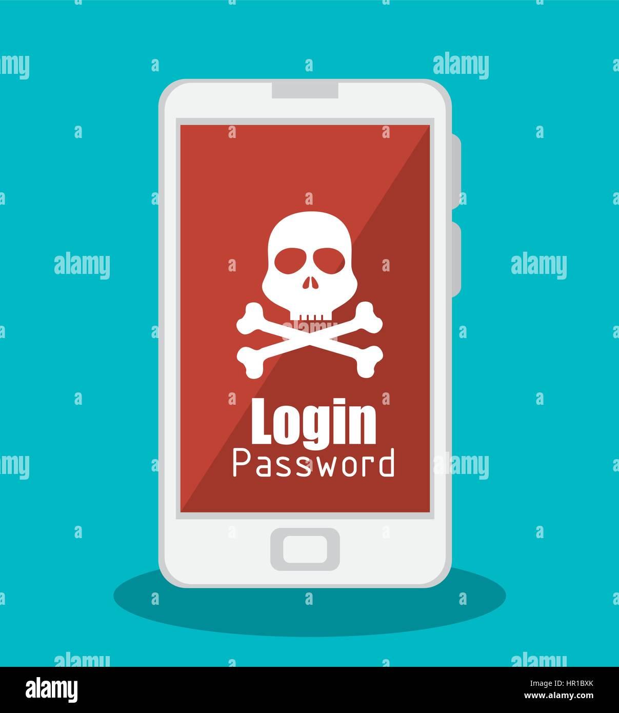 El concepto de sistema de hacking iconos Imagen De Stock