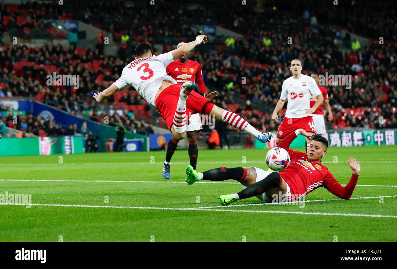 Manchester Uniteds Marcos Rojo Imágenes De Stock & Manchester ...