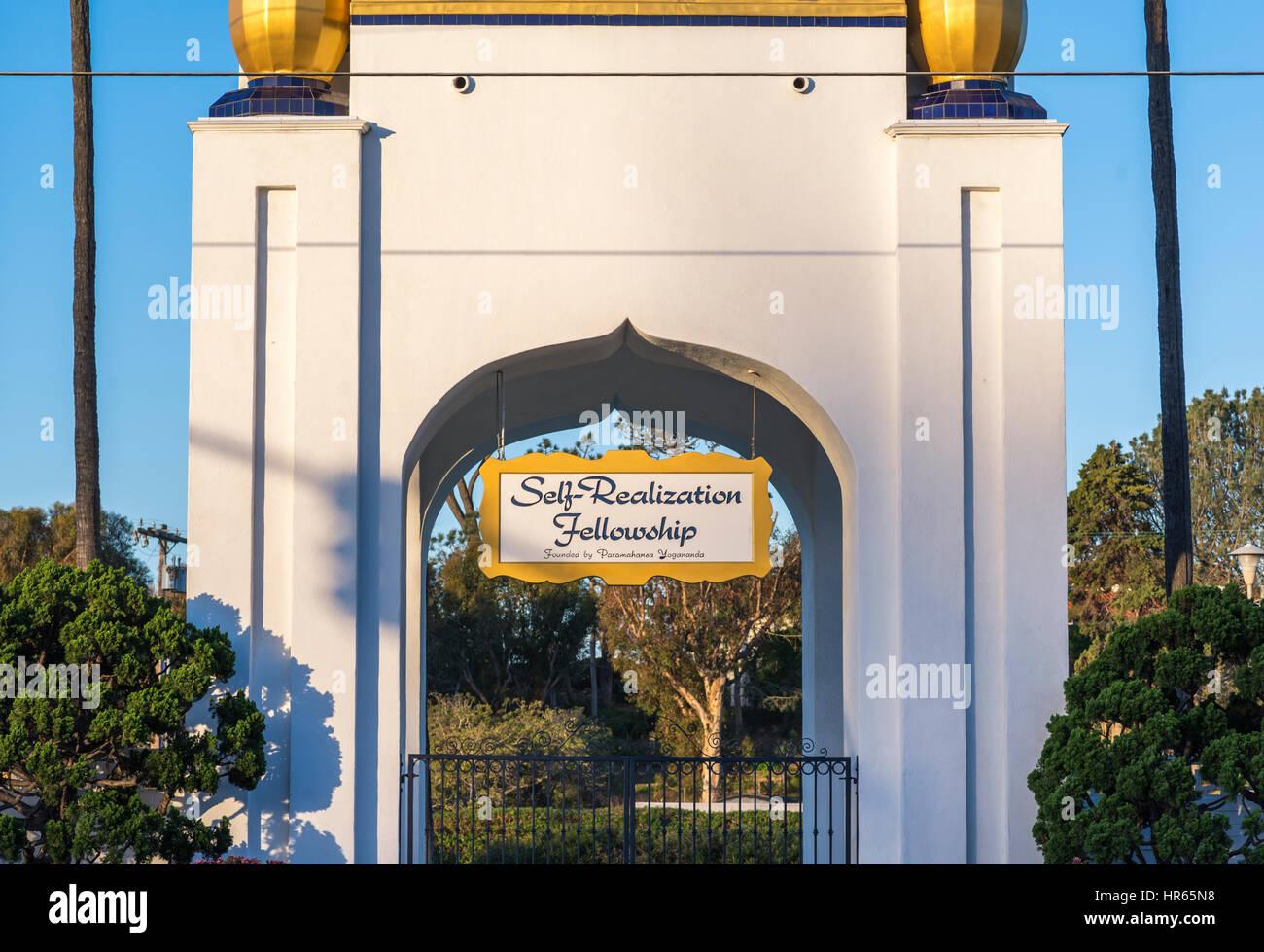 La Autorealizacion signo de becas. Encinitas, California. Imagen De Stock
