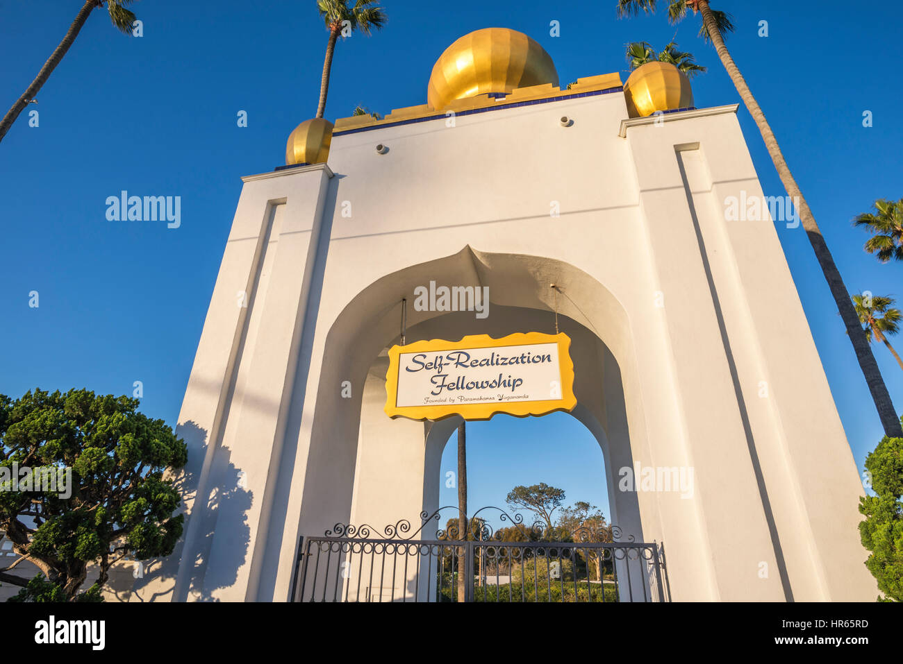 Golden Lotus Domo de la auto realización becas. Encinitas, California. Imagen De Stock