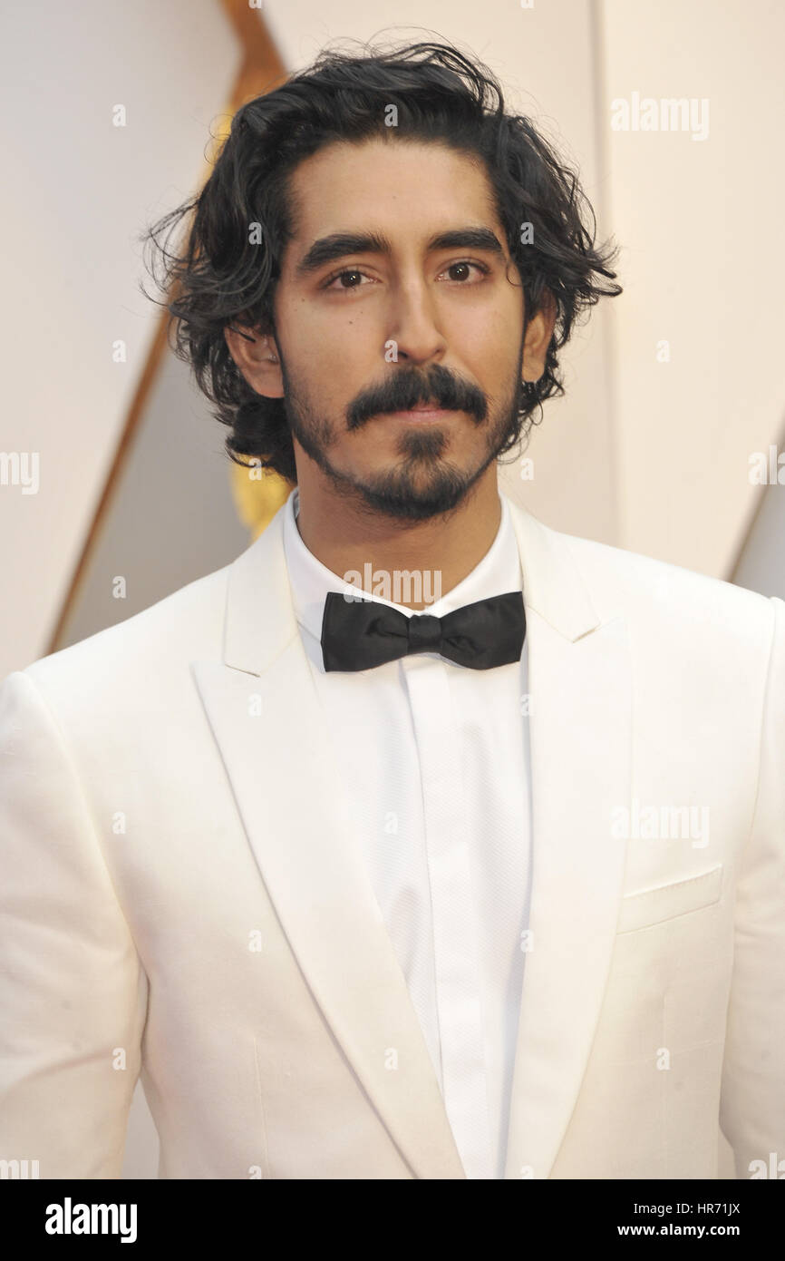 Hollywood, California. 26 Feb, 2017. Dev Patel asiste a la 89ª Anual de los Premios de la academia en el Hollywood Imagen De Stock