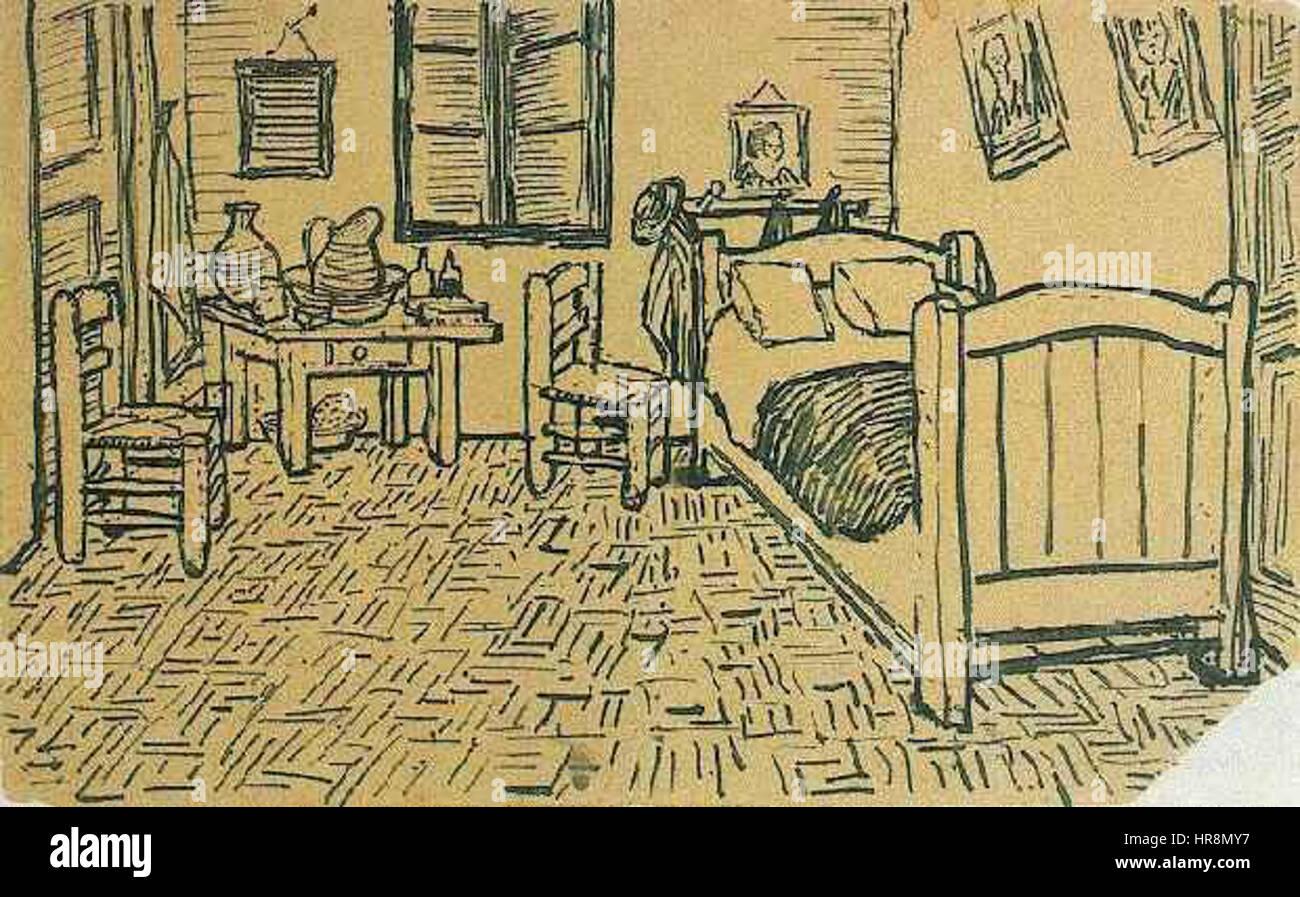 Dormitorio De Los Vincents En Arles Fotos e Imágenes de stock - Alamy