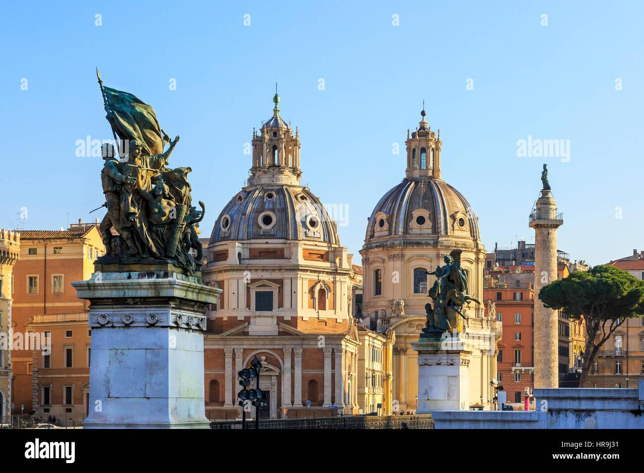 Muy temprano en la mañana en la Piazza San Marco, Roma, Italia Imagen De Stock