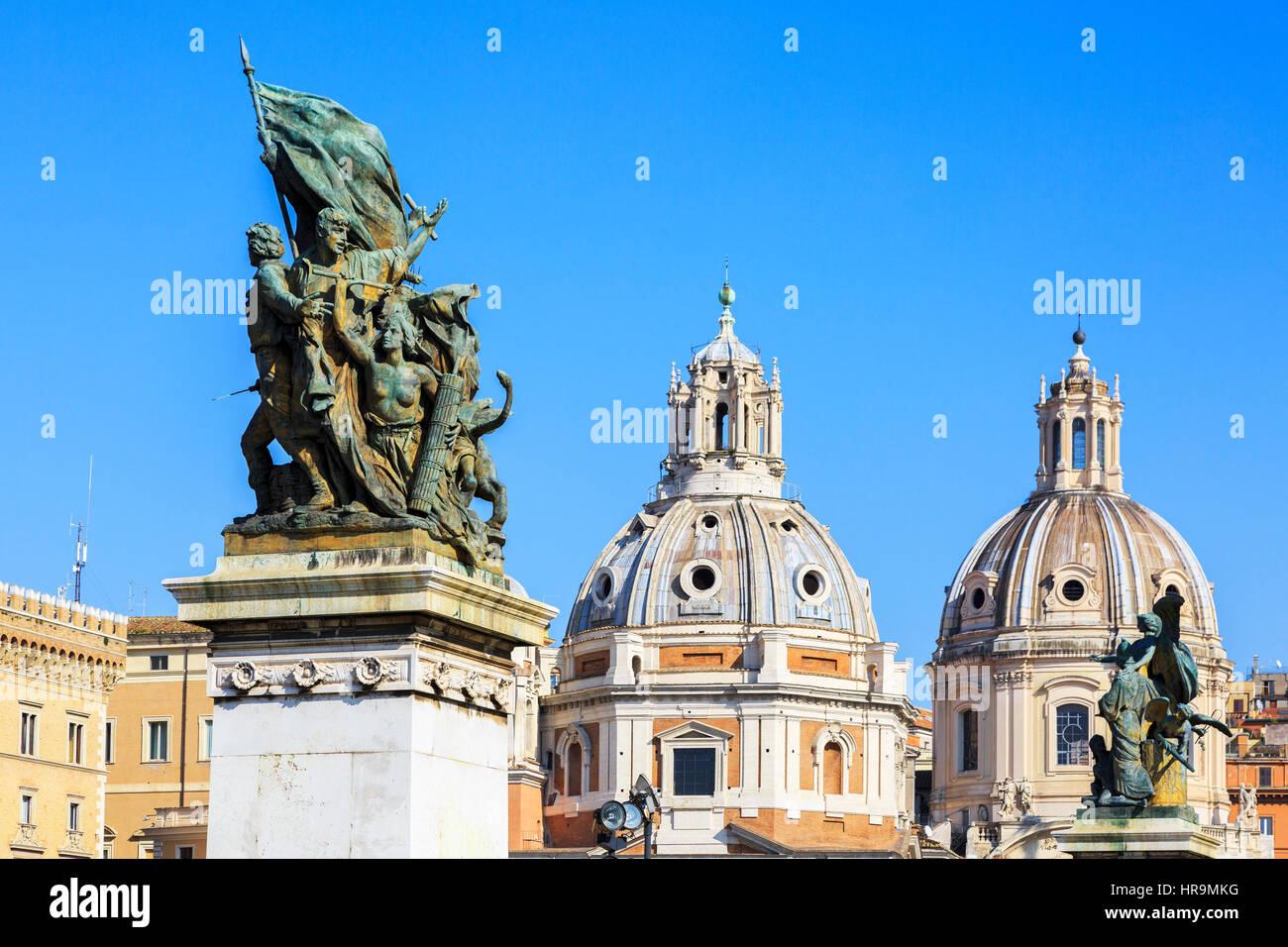 Piazza Venezia, Roma, Italia Imagen De Stock