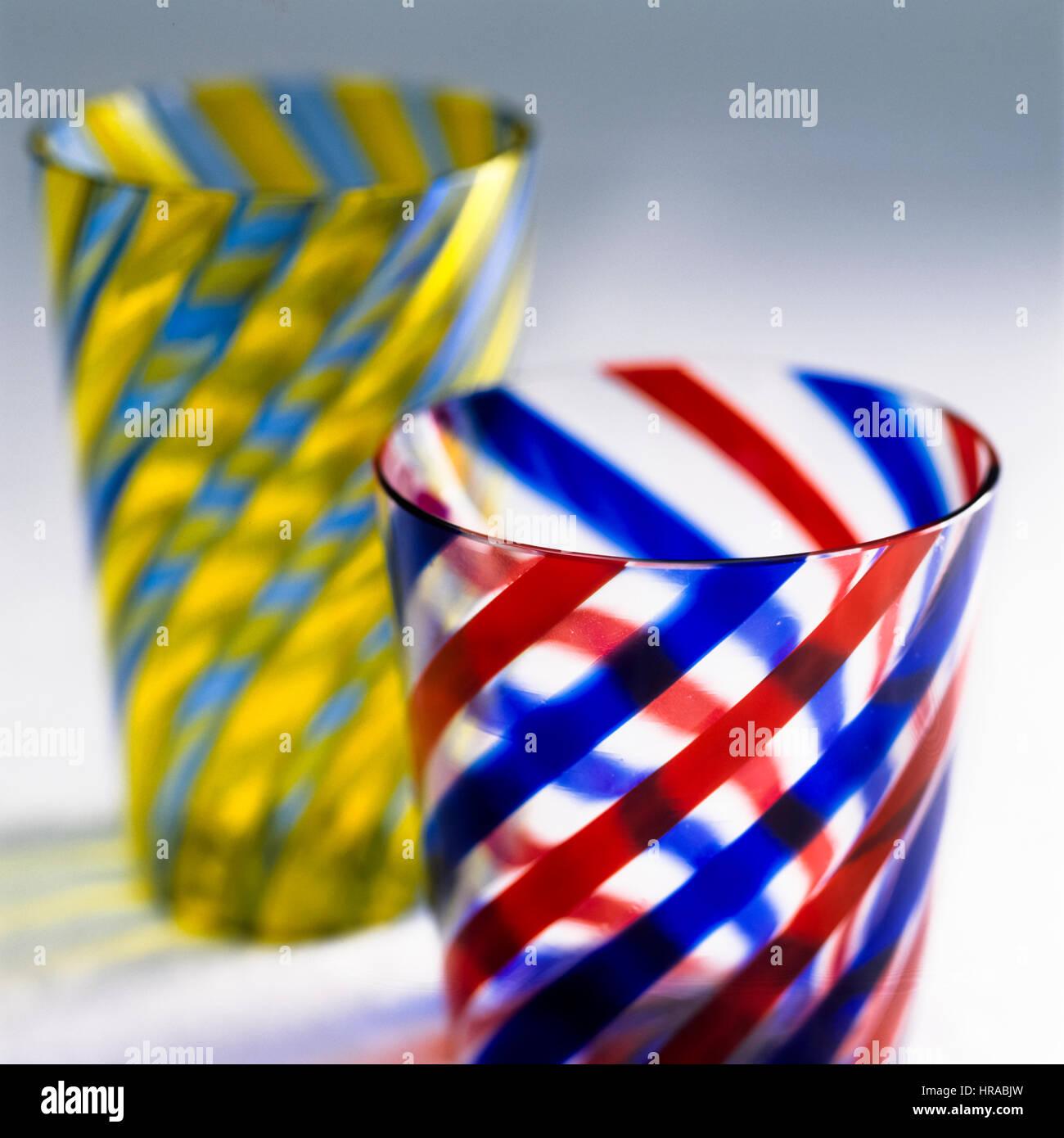 Vasos seccionados. Imagen De Stock