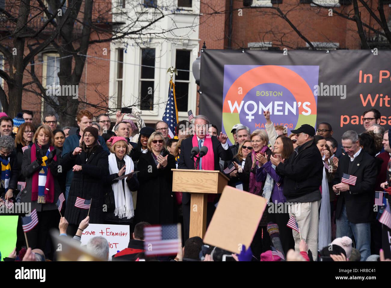 La mujer de Boston de marzo para América Imagen De Stock