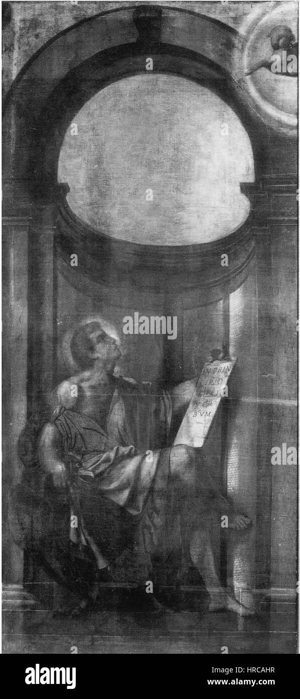 San Giovanni Evangelista (Moretto, San Giovanni, Brescia, ante organo) Imagen De Stock