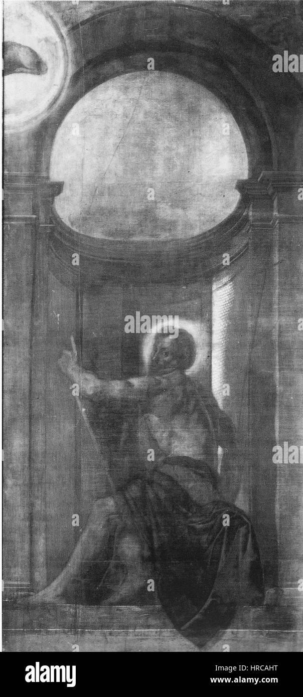 San Giovanni Battista (Moretto, San Giovanni, Brescia, ante organo) Imagen De Stock