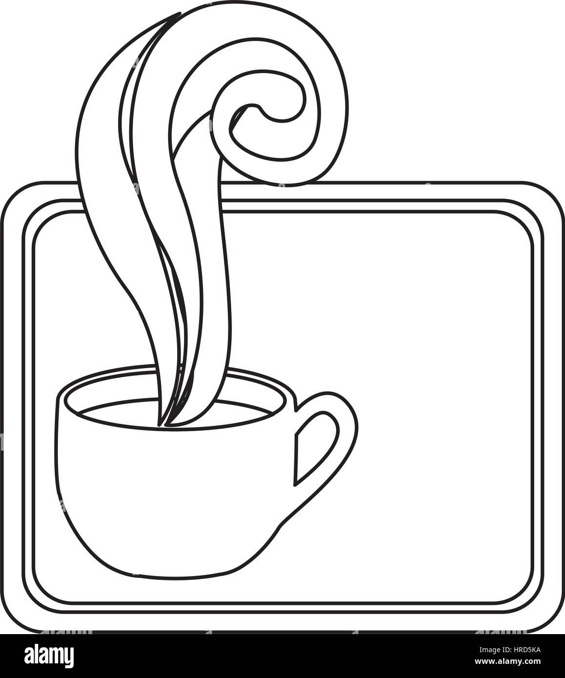 Figura pequeña squard símbolo de la taza de café Ilustración del Vector