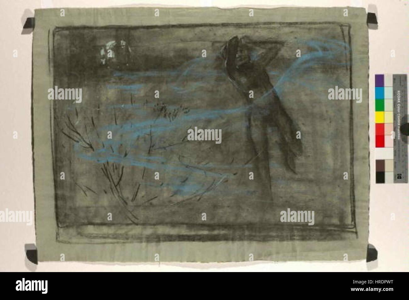 Autor Alfons Mucha 24.7.1860-14.7.1939 - Vyrazova studie Hrich Foto de stock