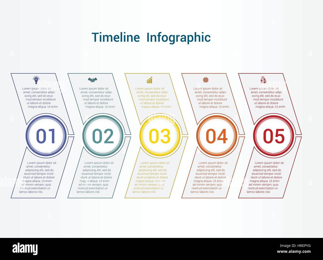 Gráfico de área o línea de tiempo, los elementos de la plantilla de ...