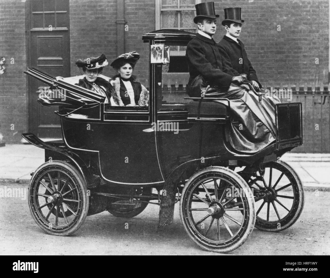 Ciudad & Victoria eléctrico suburbano 1902 Imagen De Stock