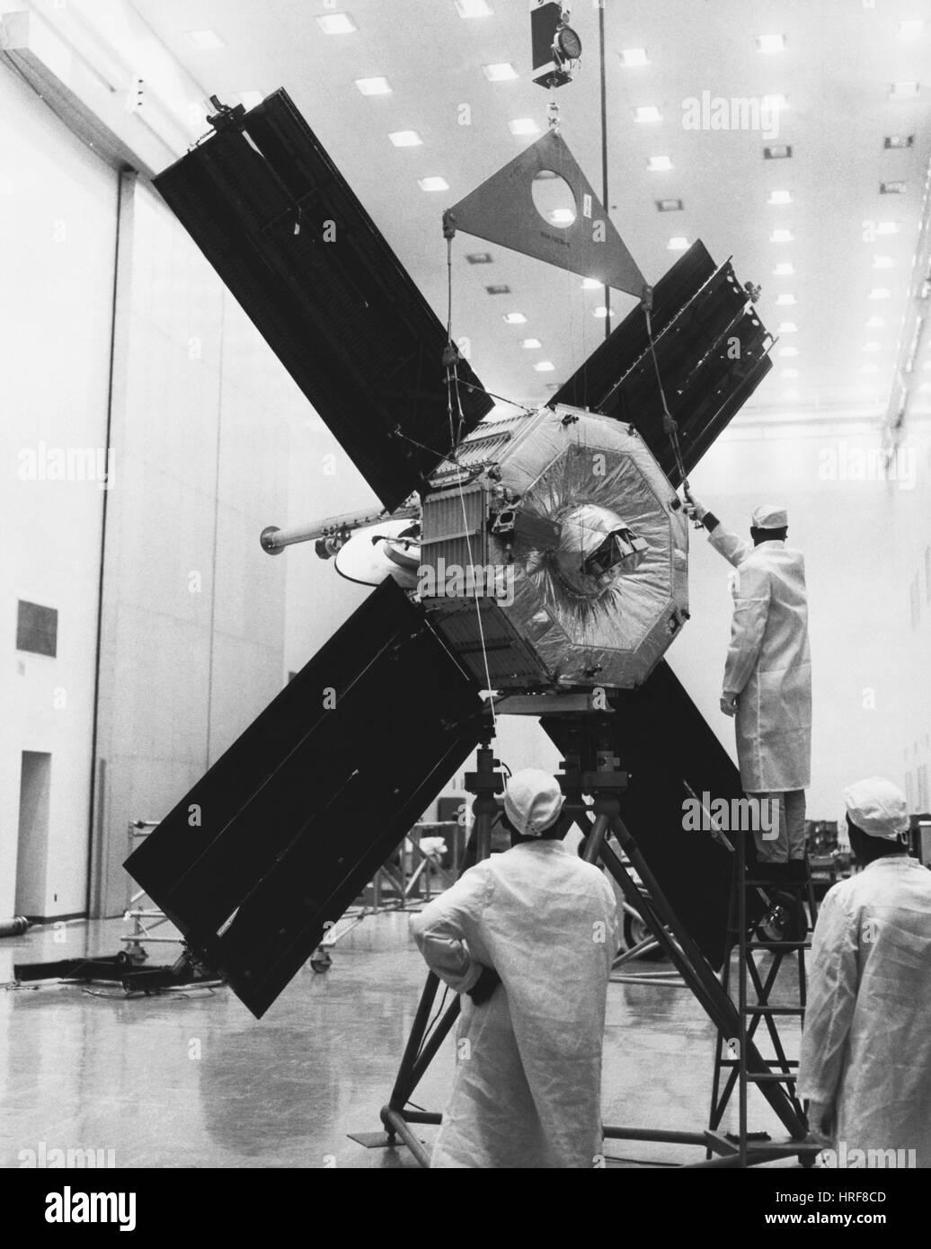 Los paneles solares de la nave Mariner (3 o 4) Imagen De Stock