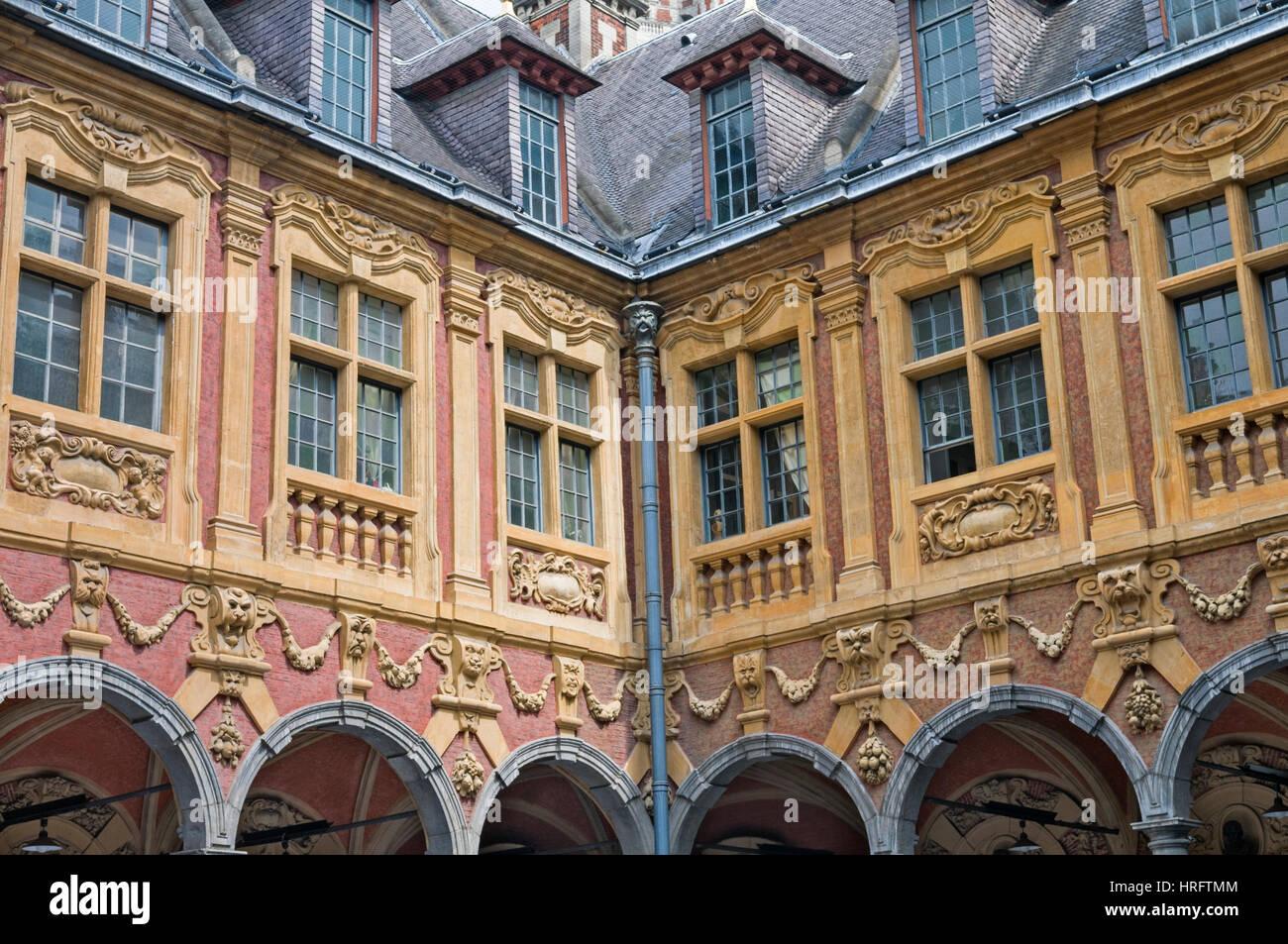 Vieille Bourse Grand Place Lille Francia Imagen De Stock