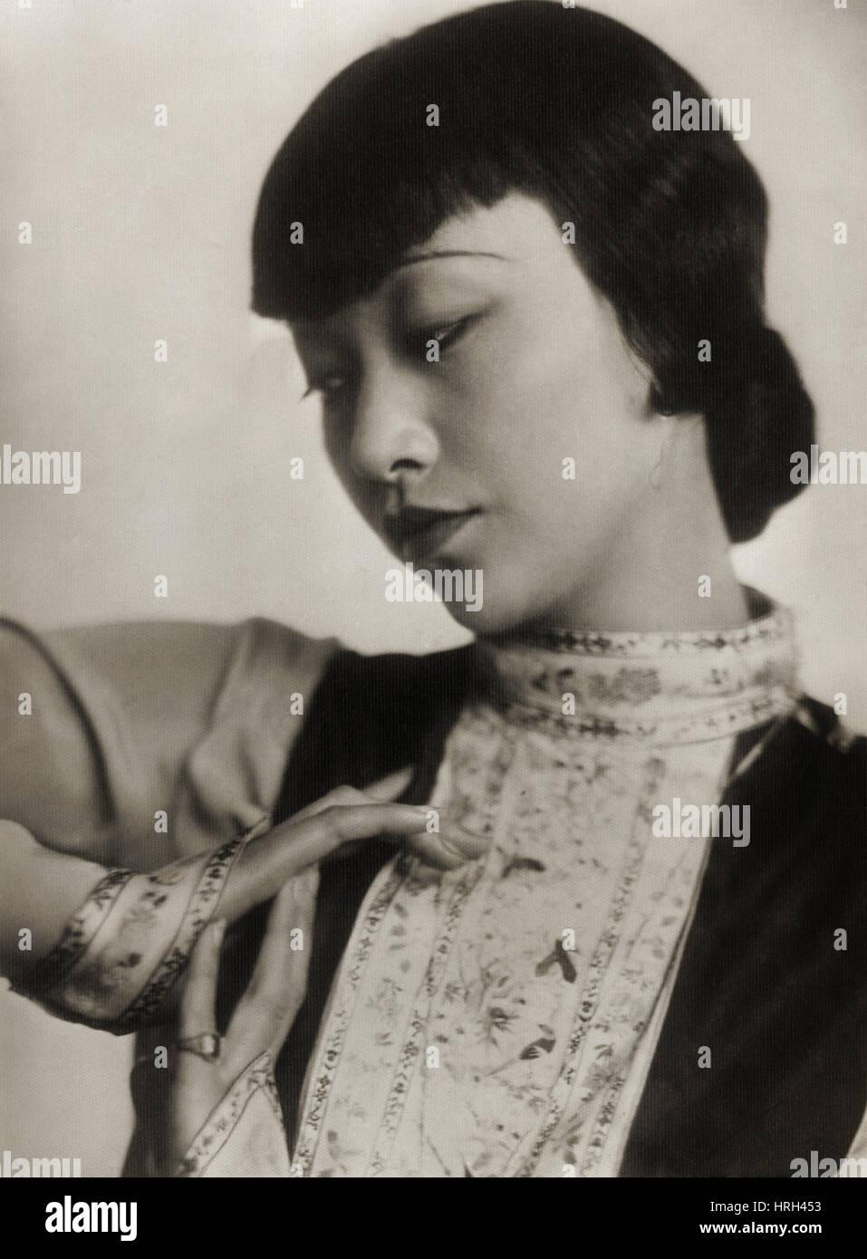 Anna May Wong, estrella de cine Chineses-American Imagen De Stock