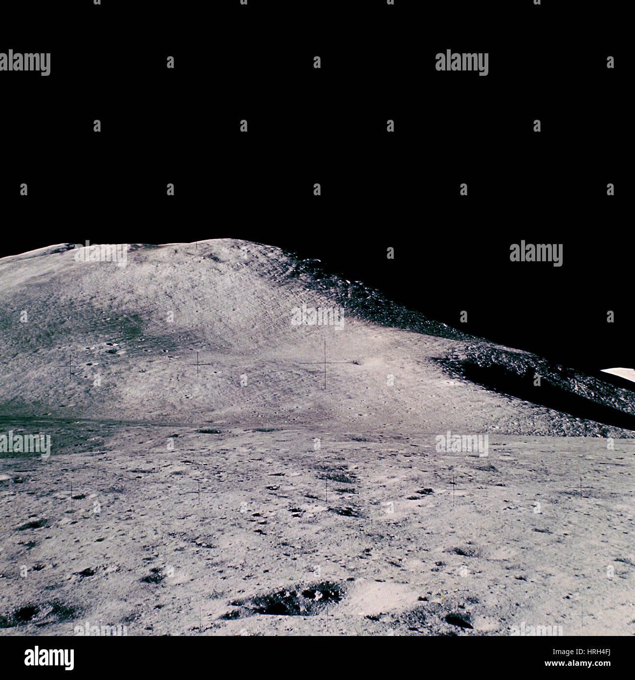 Paisaje lunar del Apolo 15 Imagen De Stock