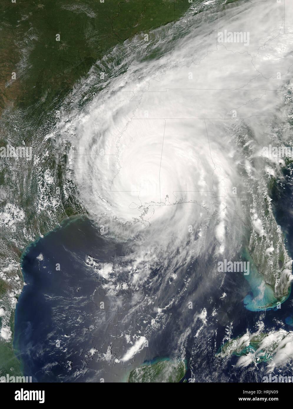 El huracán Katrina, el MODIS Imagen, 2005 Imagen De Stock