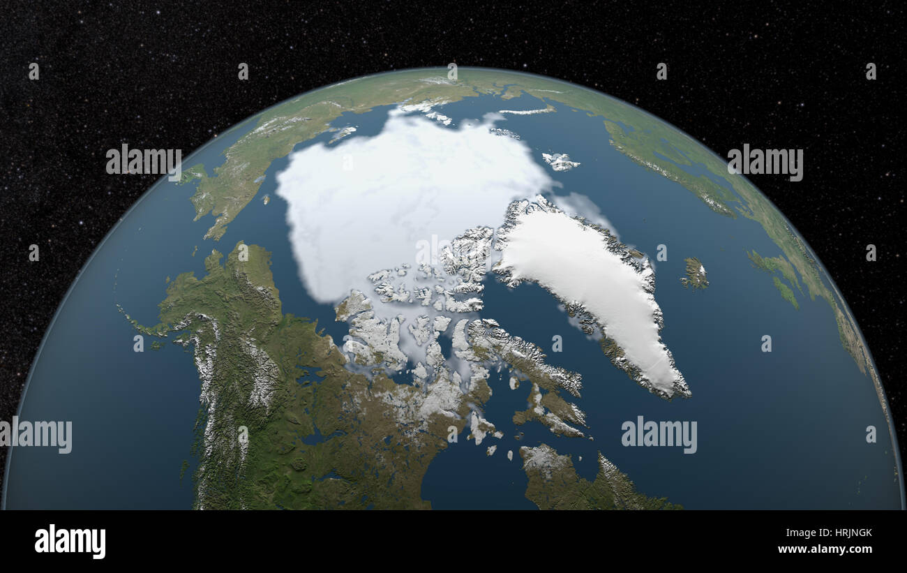 Mínima del hielo marino del Ártico, 1997 Imagen De Stock