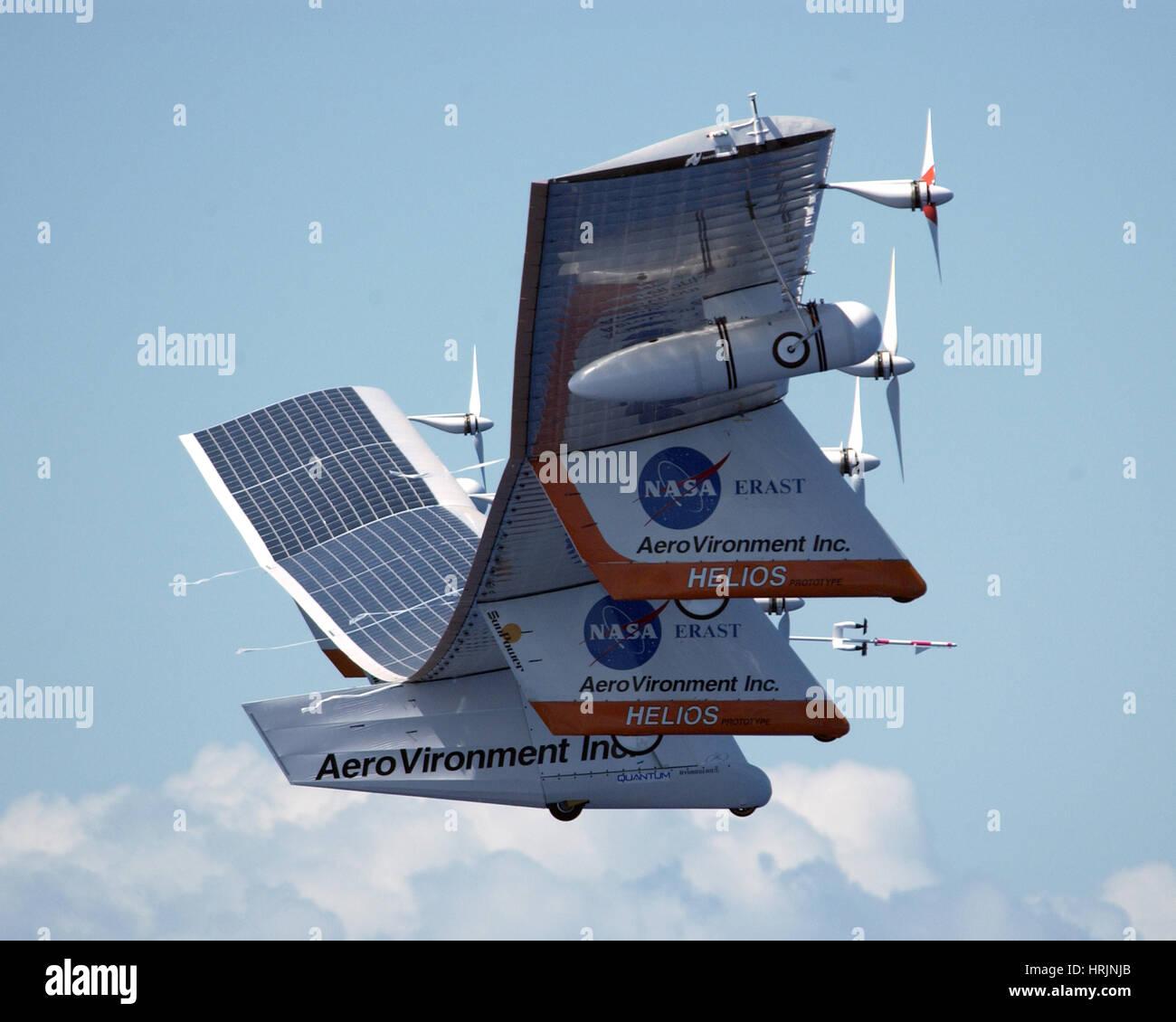 Último vuelo del prototipo Helios, 2003 Imagen De Stock