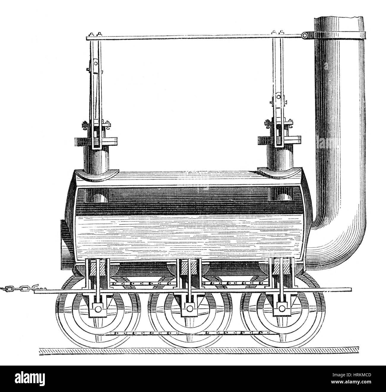 "George Stephenson, 'BlÌ_cher"", 1814. Imagen De Stock"