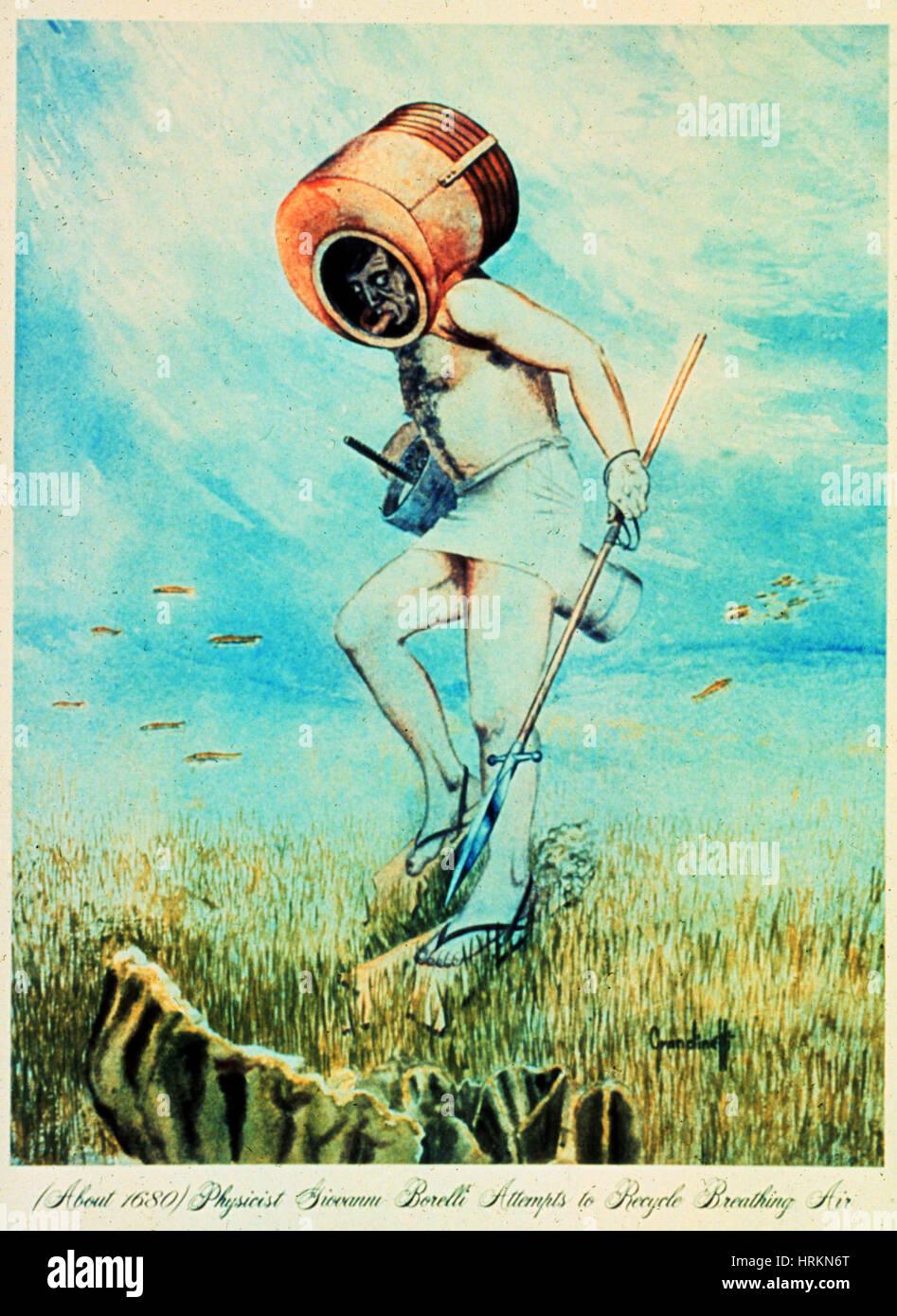 Giovanni Borelli Underwater Imagen De Stock