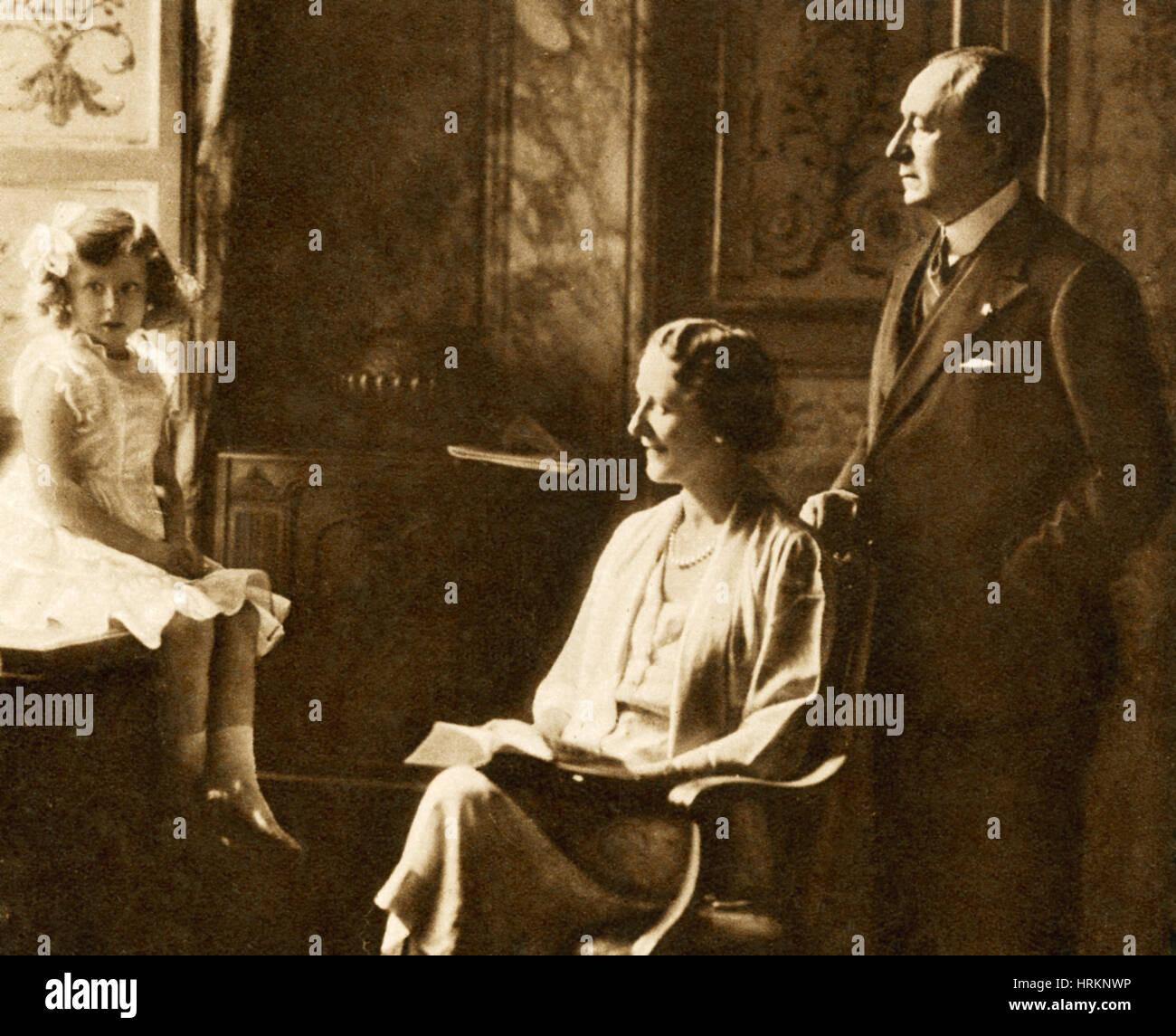 Guglielmo Marconi y familia Foto de stock