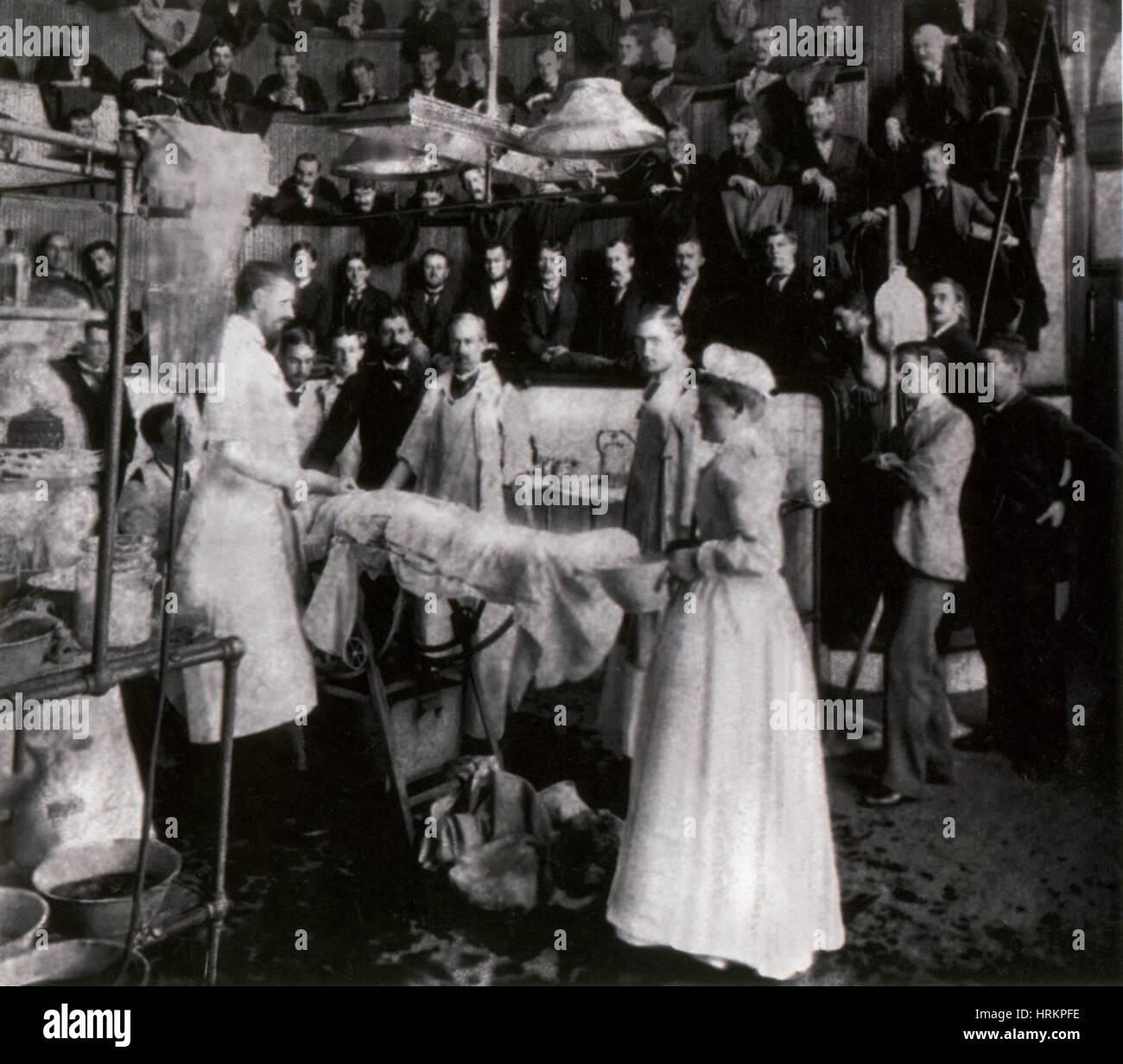 Bellevue, sala de operaciones, a finales del siglo XIX. Imagen De Stock
