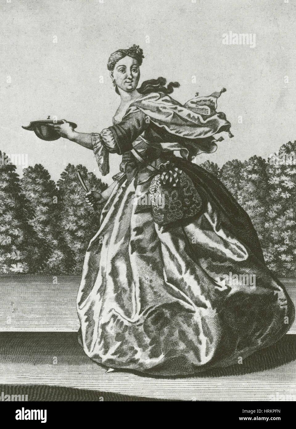 La esposa Barber-Surgeon, Siglo XVIII Foto de stock