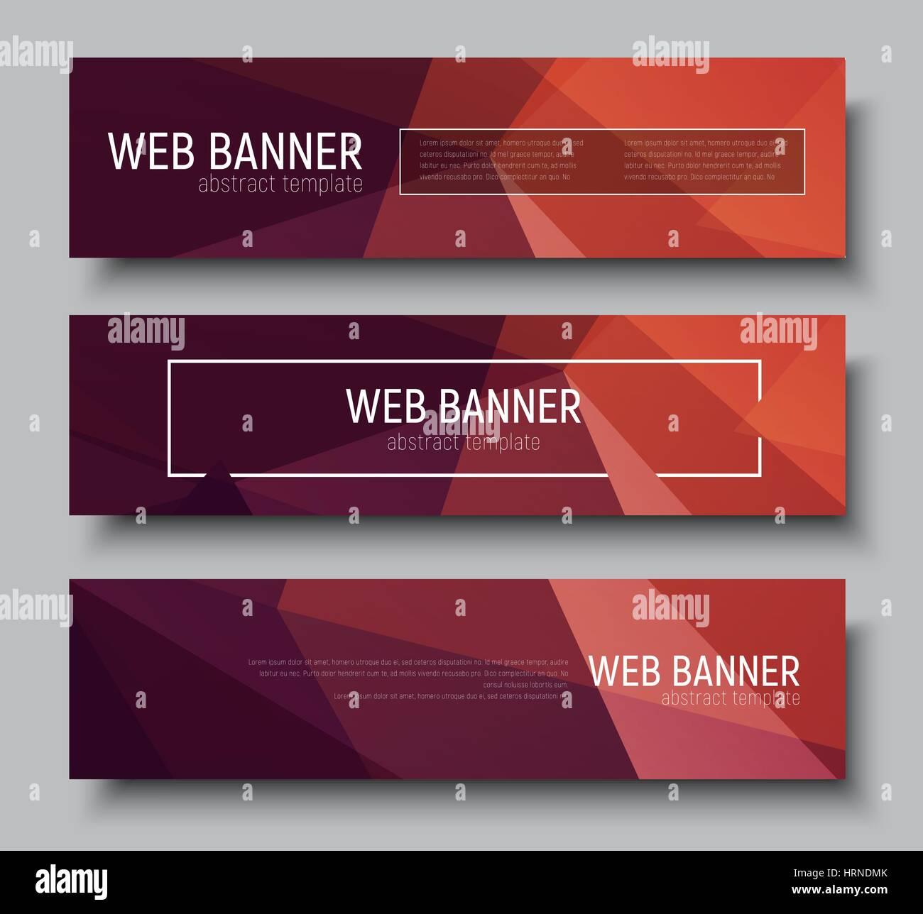 Diseño web banners horizontales poligonales con fondo marrón y un ...