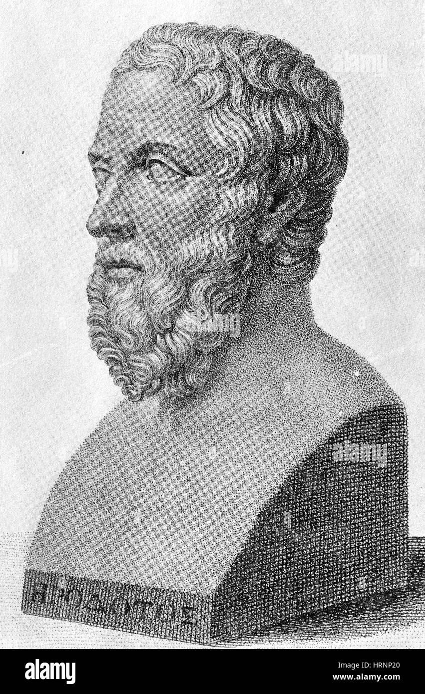 Herodoto, antiguo historiador griego, Padre de la historia Imagen De Stock