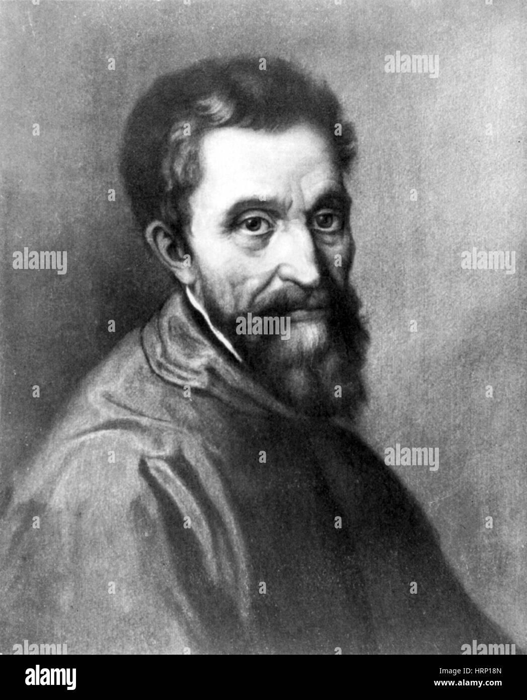 Michelangelo, el hombre del Renacimiento italiano Imagen De Stock