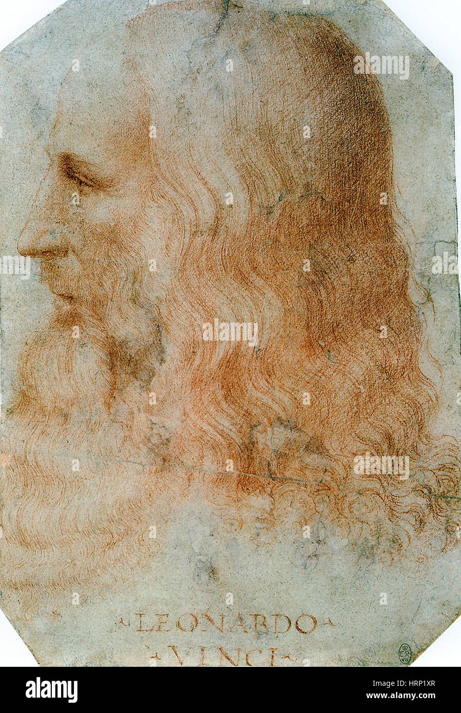 Leonardo da Vinci, el polímata renacentista italiano Imagen De Stock