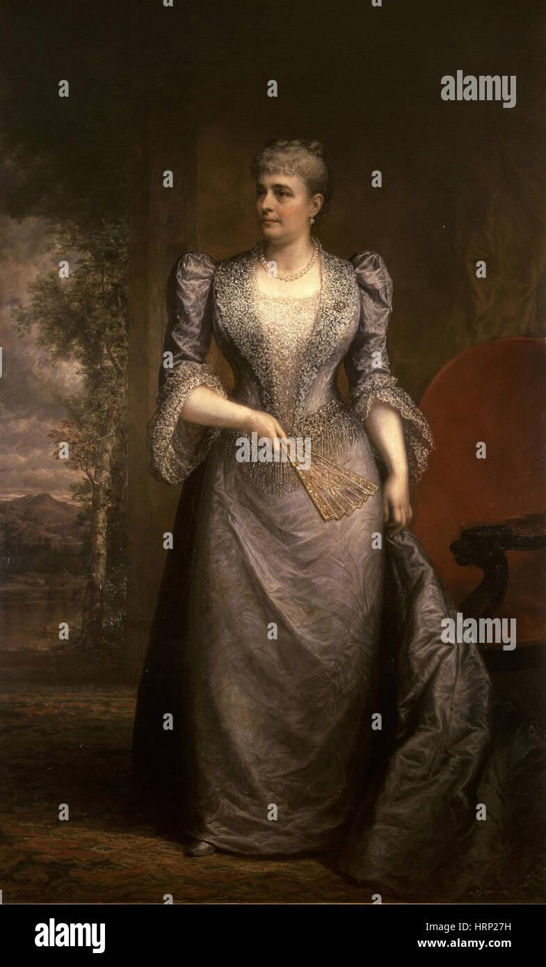 Caroline Harrison, Primera Dama Imagen De Stock