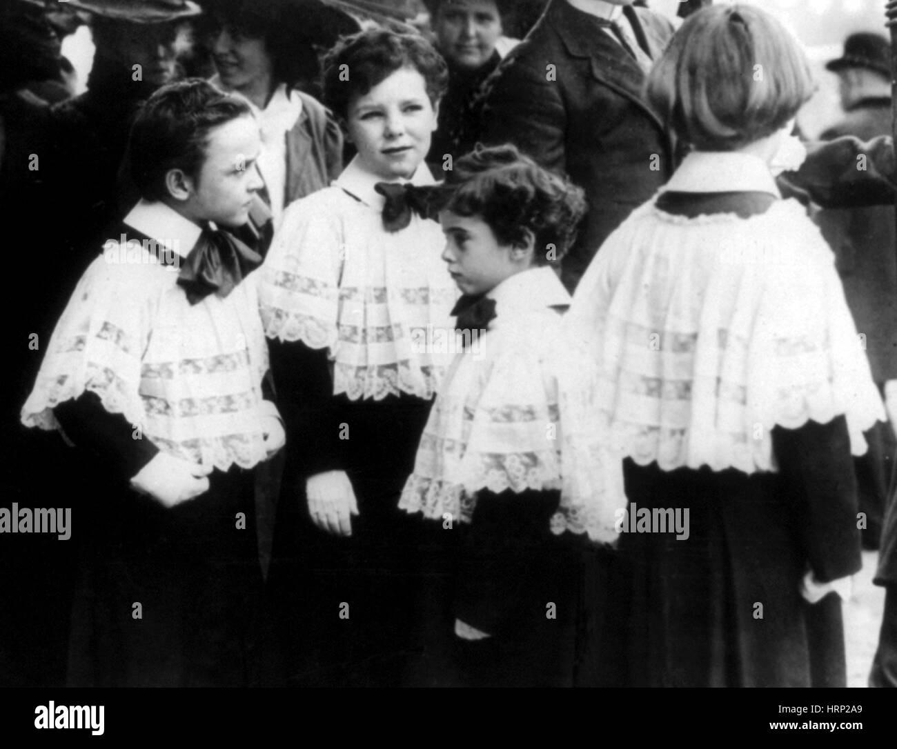 Choirboys, Siglo XX Imagen De Stock