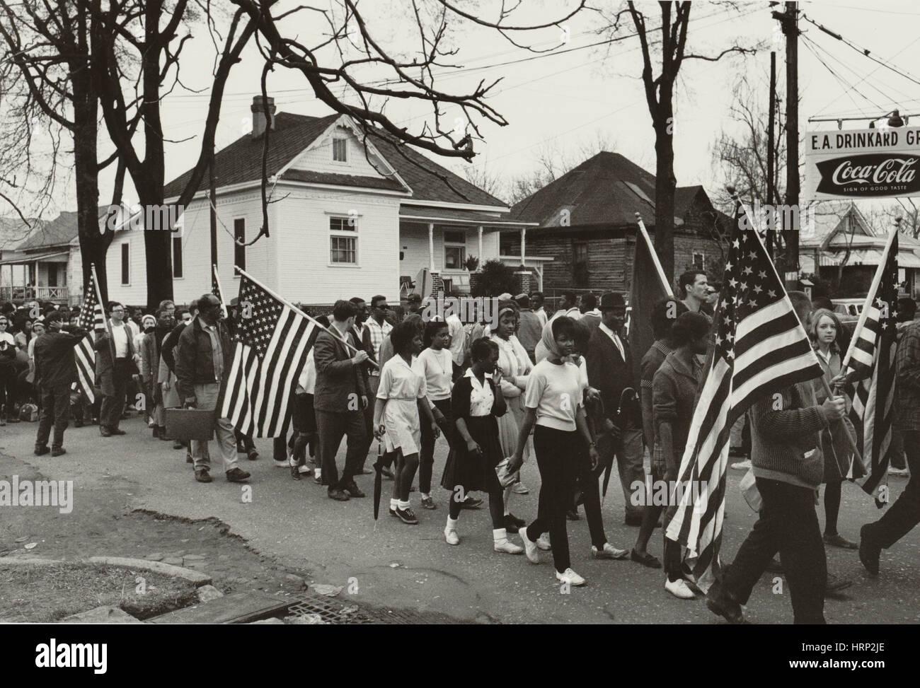 Selma a Montgomery Marzo 1965 Imagen De Stock