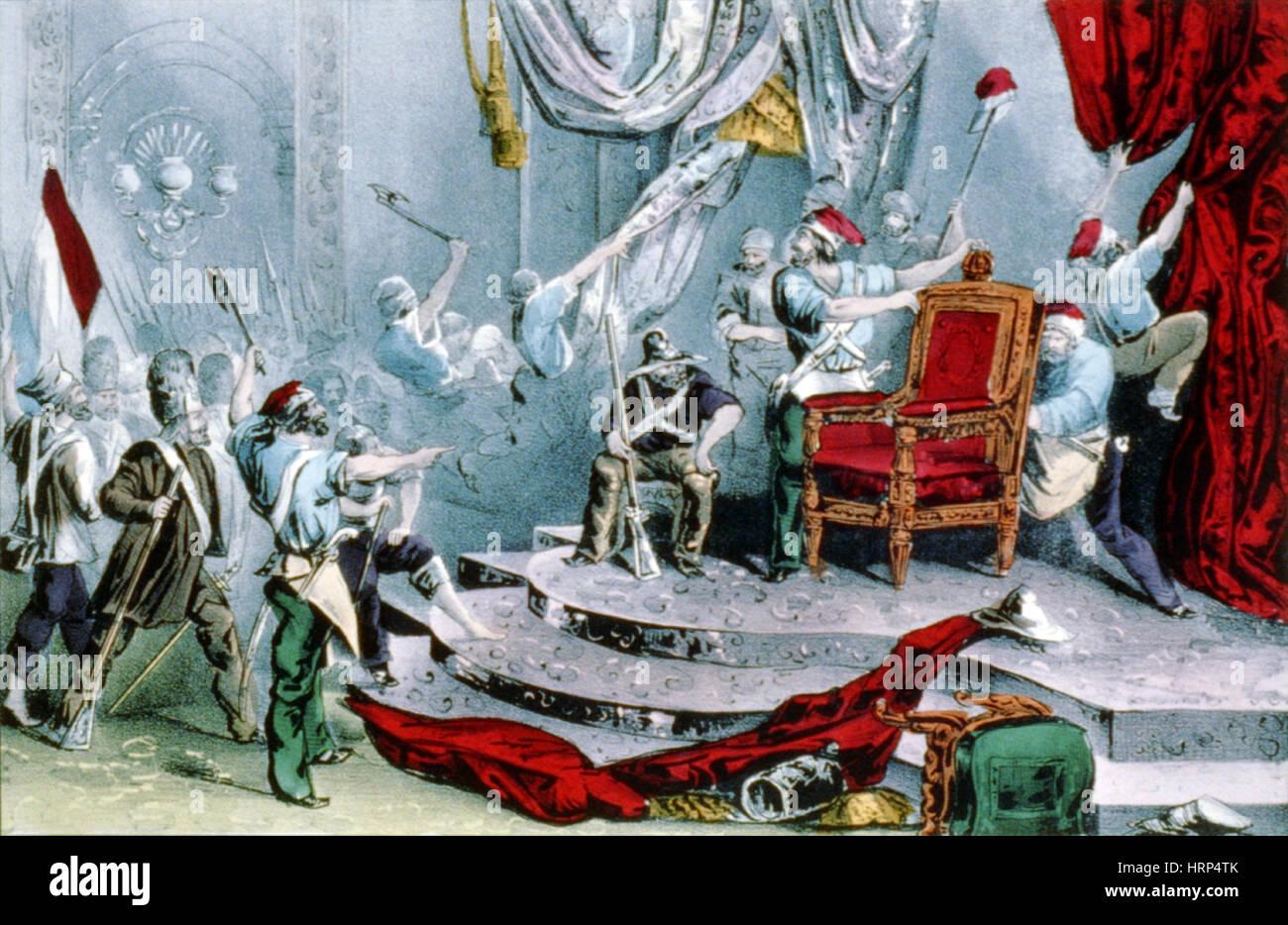El rey Louis Philippe la abdicación de 1848 Foto de stock