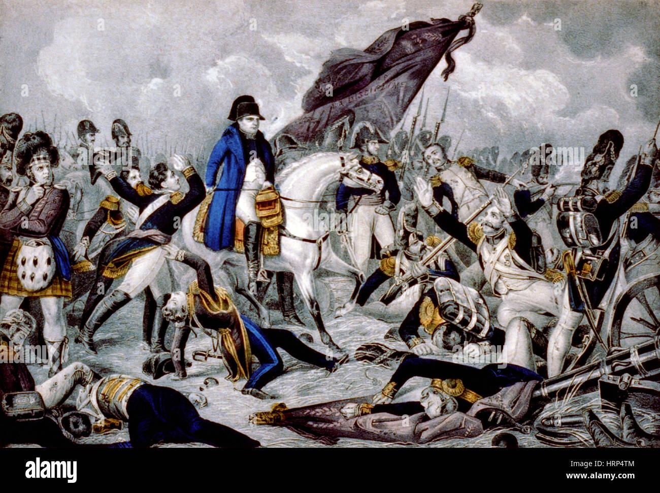 Batalla de Waterloo, 1815 Imagen De Stock