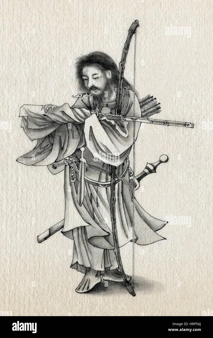 Guerrero de Samurai Foto de stock