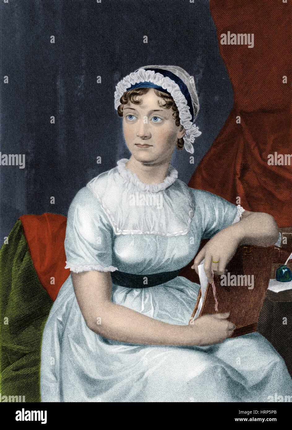 Jane Austen, autor inglés Imagen De Stock