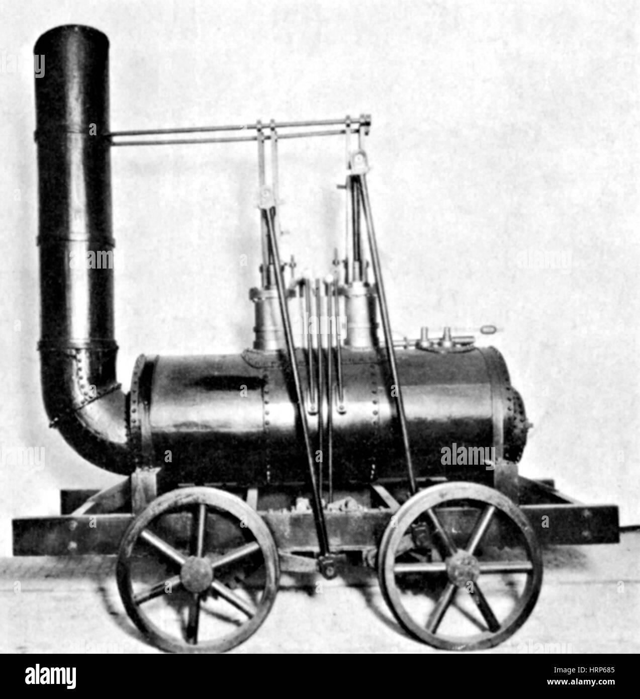 George Stephenson, Réplica de 'BlÌ_cher', 1892 Imagen De Stock