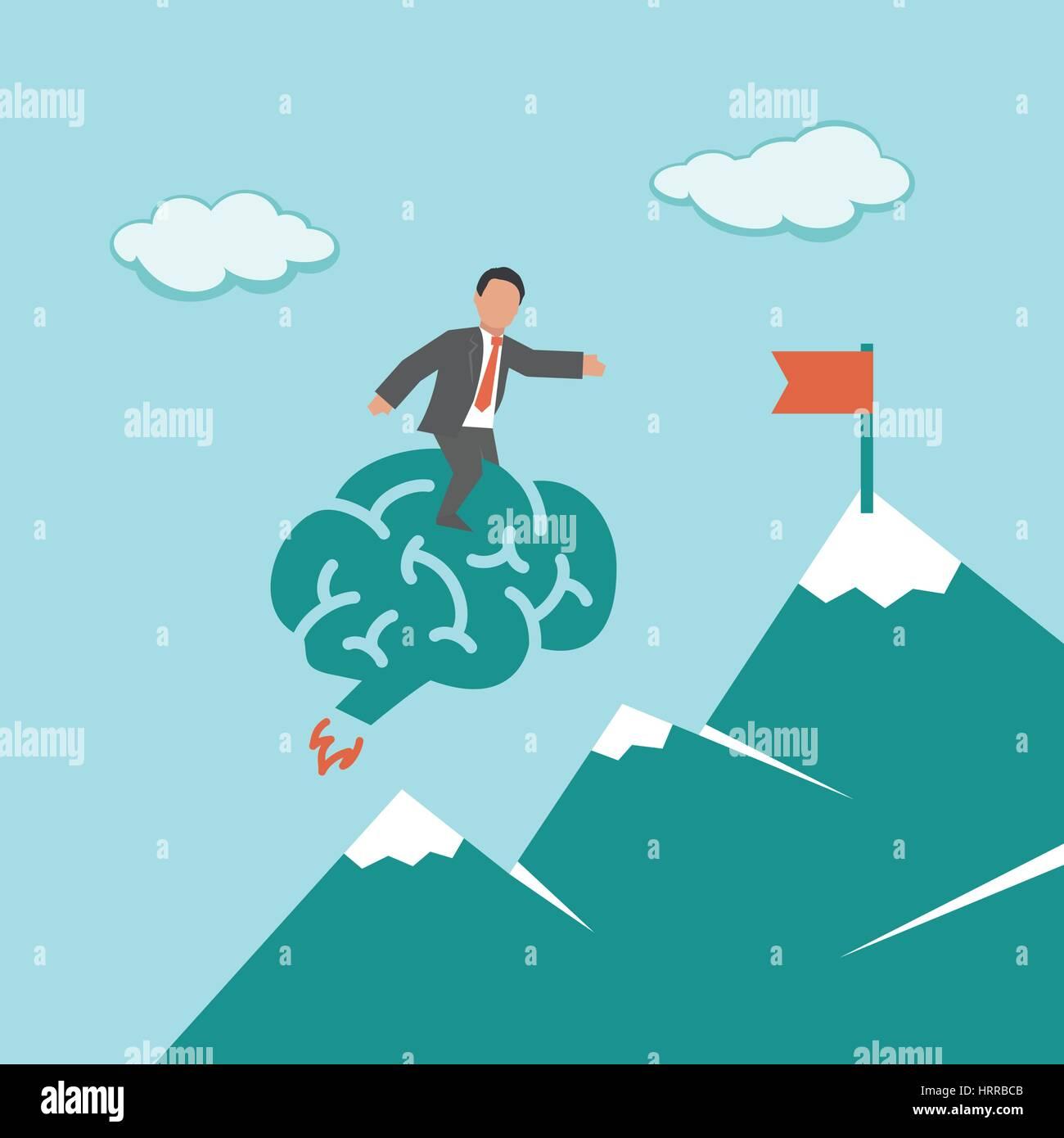 Una solución inteligente. Concepto de ilustración de negocios Imagen De Stock