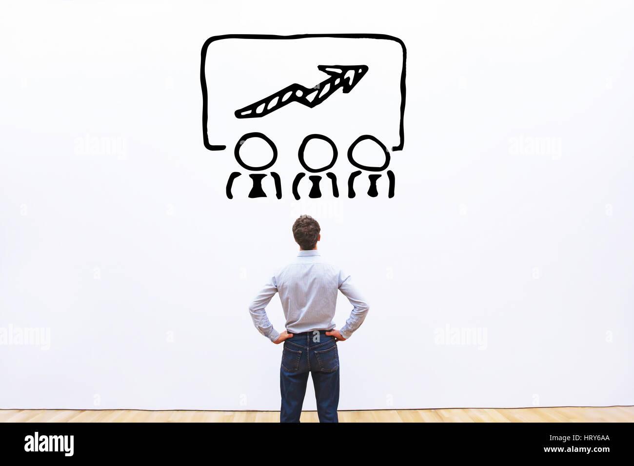 Concepto de capacitación empresarial, el programa de educación del empleado Imagen De Stock
