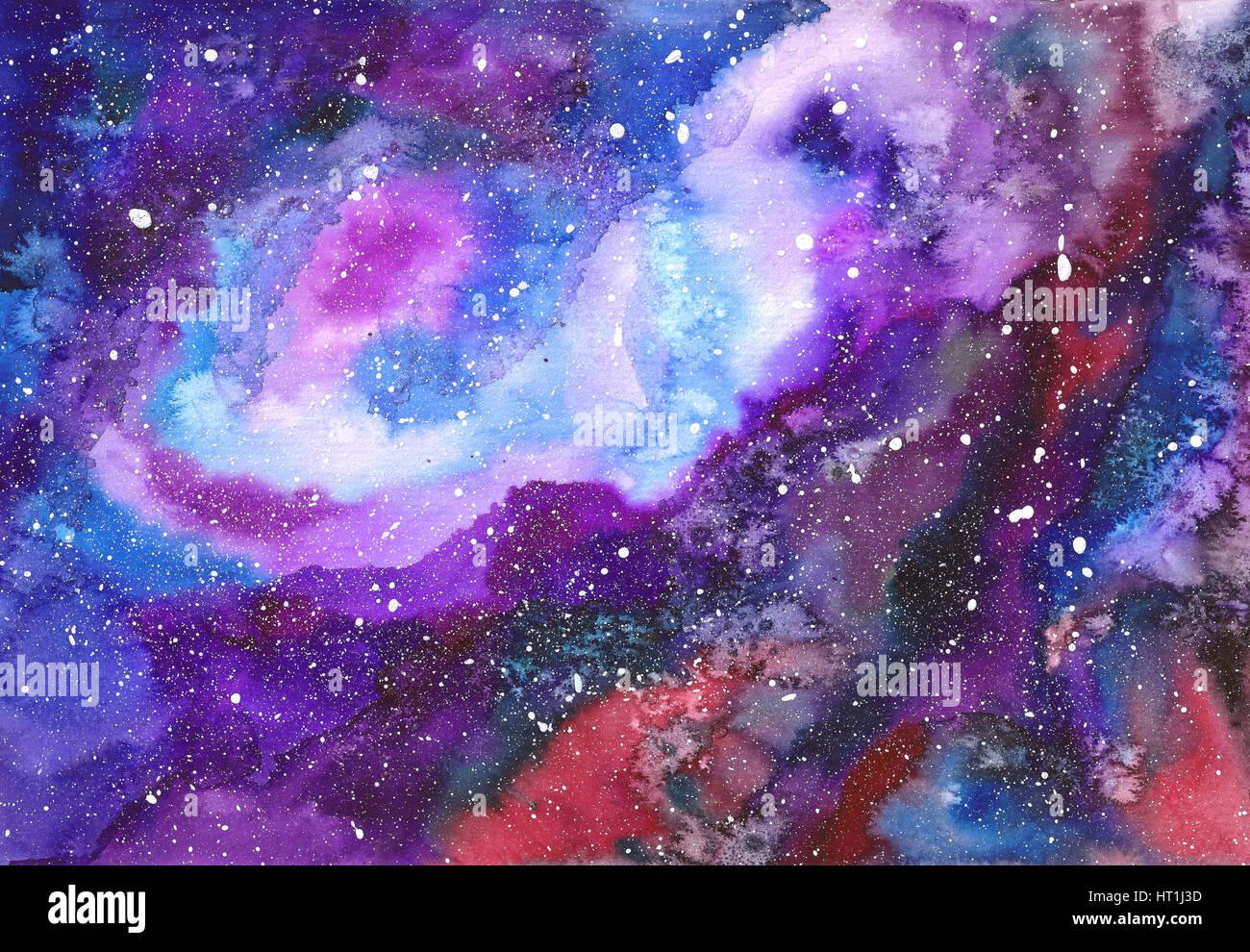 Espacio Abstracto Antecedentes Acuarela Pintada A Mano Dibujar A