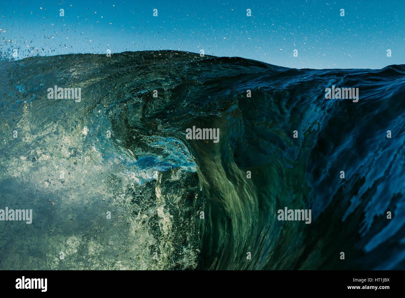 Las texturas de las olas del océano Imagen De Stock