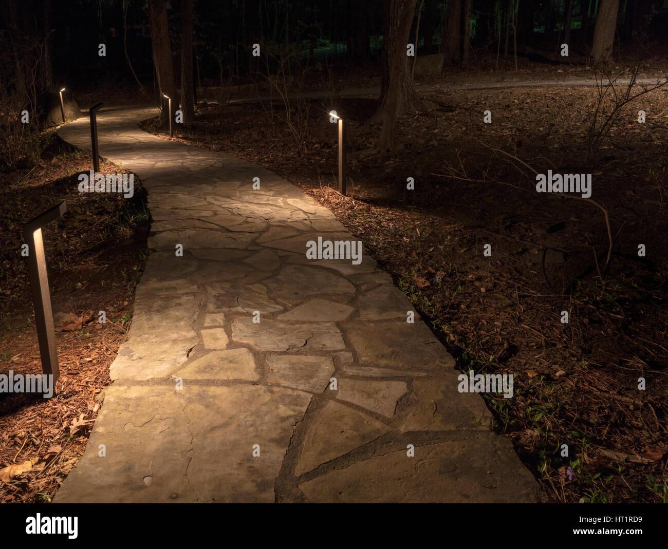 Ruta de la piedra iluminada Imagen De Stock
