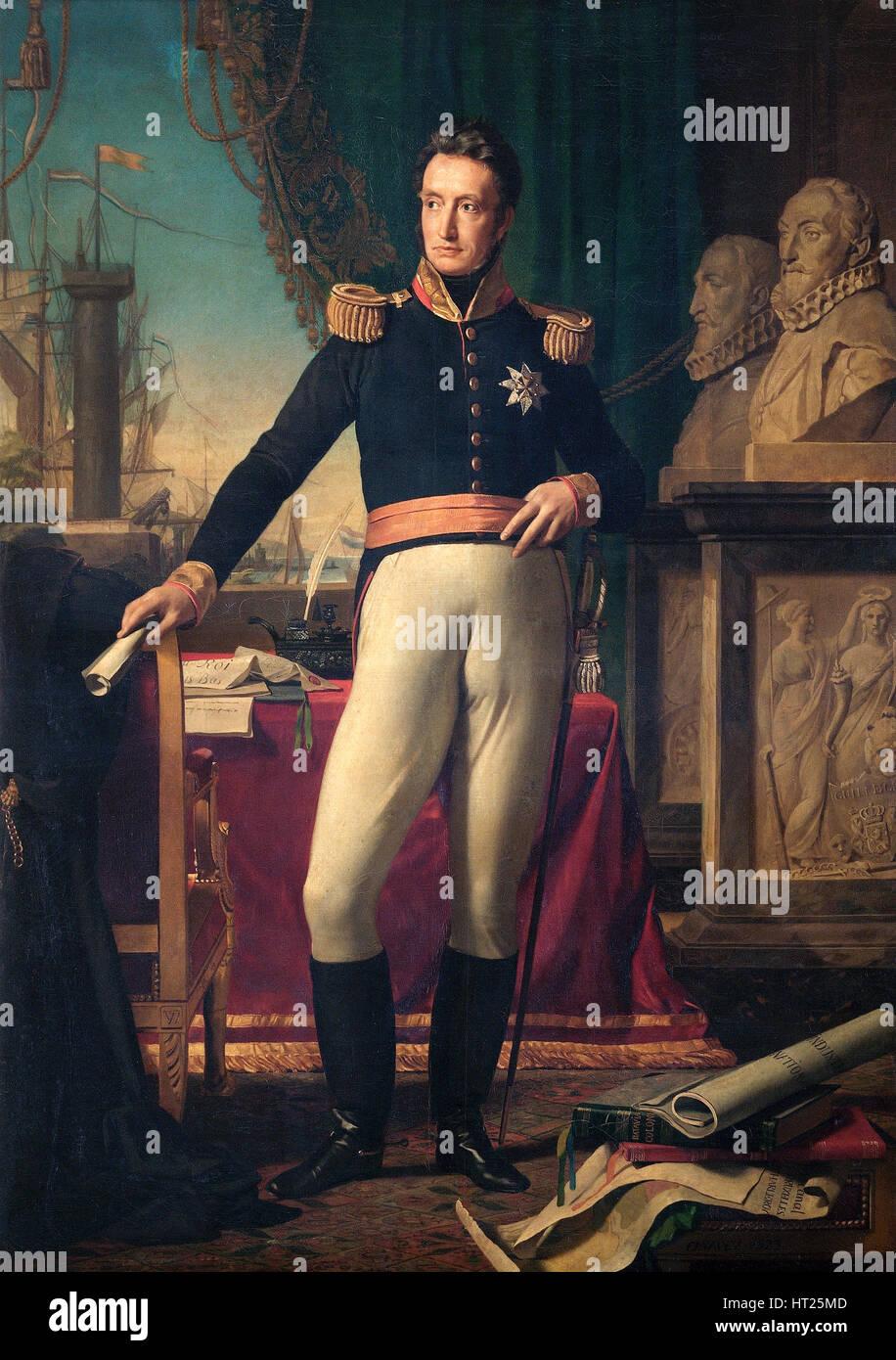 Retrato del Rey Guillermo I de los Países Bajos, en 1823. Artista: Francois-Joseph Navez. Imagen De Stock