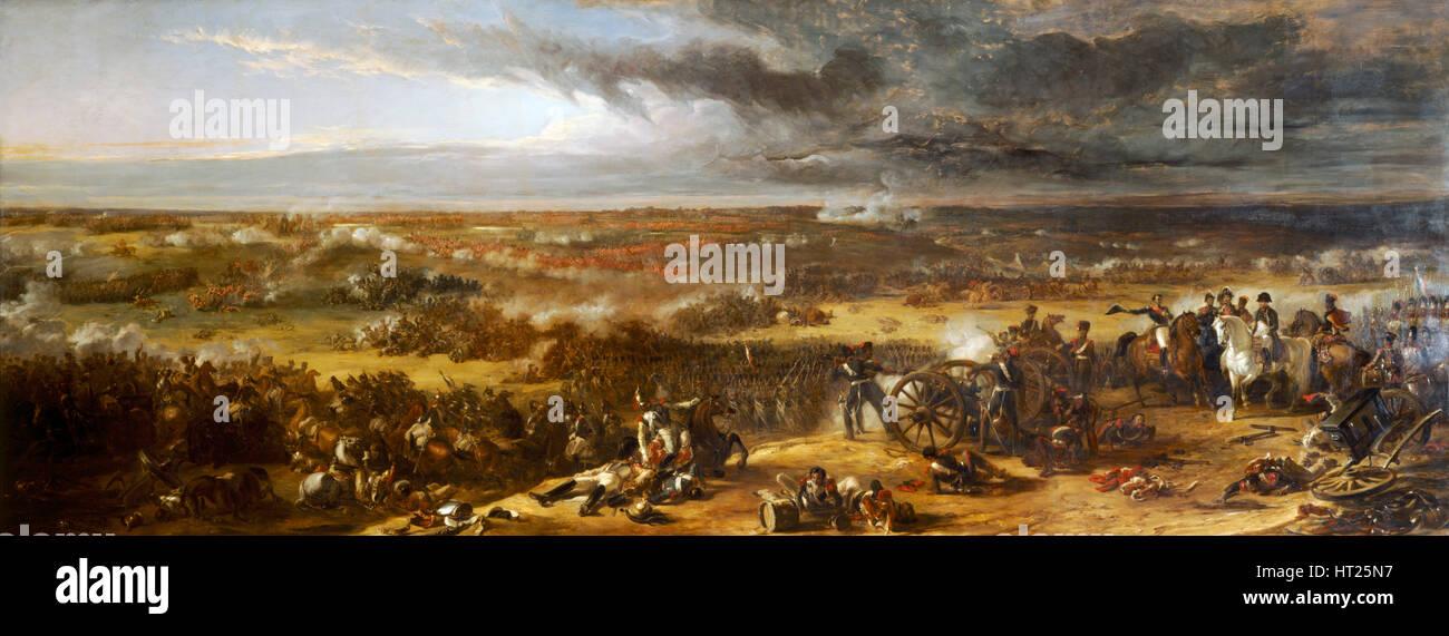 """""""La Batalla de Waterloo', 1815 (1843). Artista: William Allan. Imagen De Stock"""