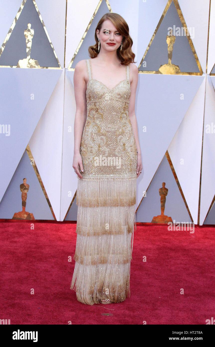 Hollywood, CA, EE.UU.. 26 Feb, 2017. 26 de febrero de 2017 - El Hollywood, California - Emma Stone. 89º Premios Imagen De Stock