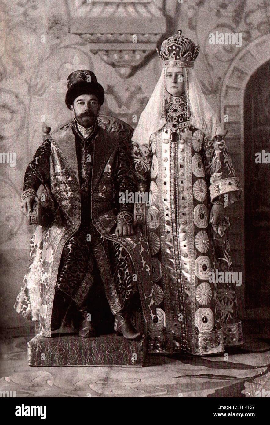 67dc3da56 Retrato de Alexandra Fjodorowna y Nicolás II de Rusia en ruso ...
