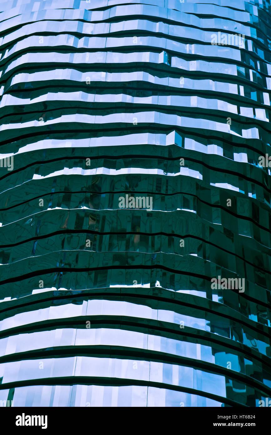 Detalle de la arquitectura metálica abstracta Foto de stock